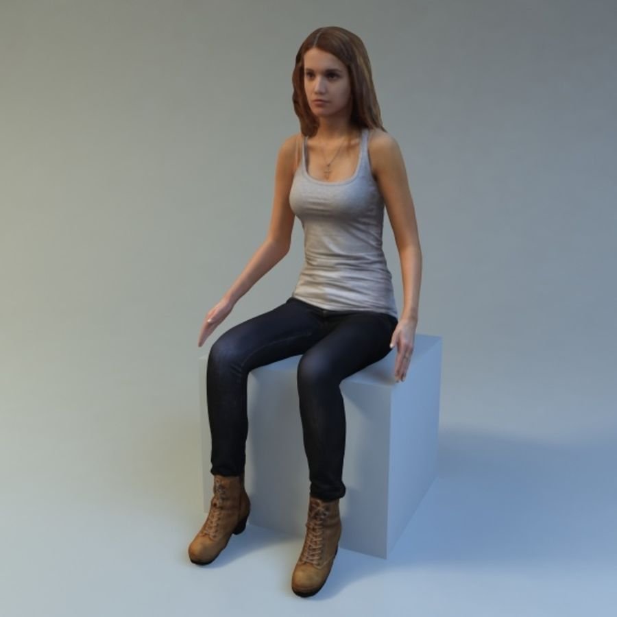 woman_sit royalty-free 3d model - Preview no. 1