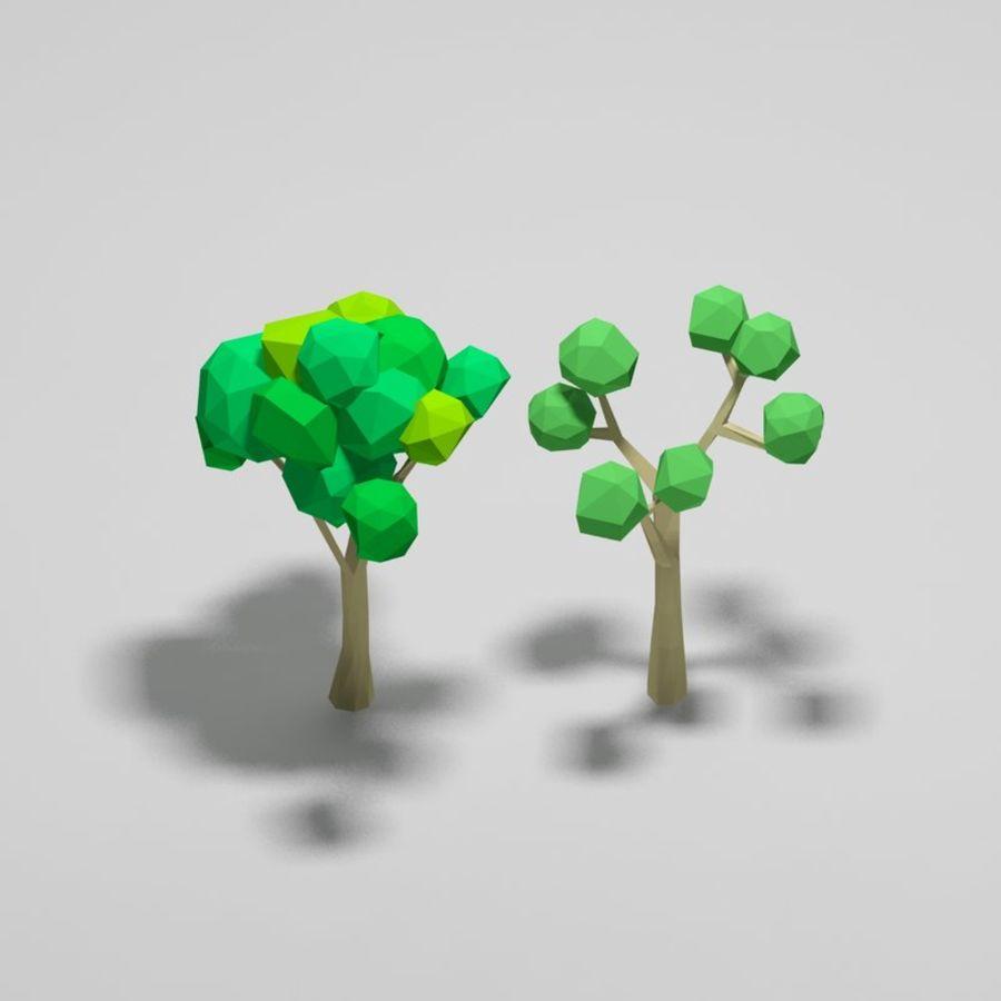 Cartoon alberi di poli basso royalty-free 3d model - Preview no. 3