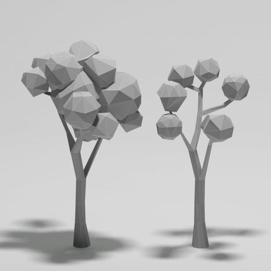 Cartoon alberi di poli basso royalty-free 3d model - Preview no. 7