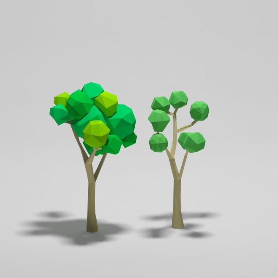 Cartoon alberi di poli basso royalty-free 3d model - Preview no. 5