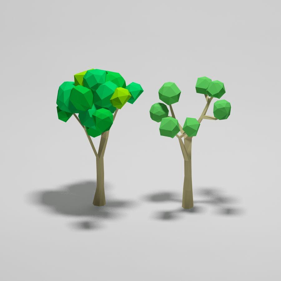 Cartoon alberi di poli basso royalty-free 3d model - Preview no. 2