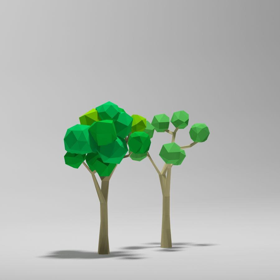 Cartoon alberi di poli basso royalty-free 3d model - Preview no. 4