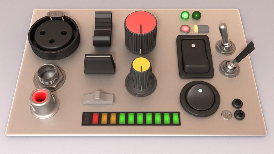 Electronics Kitbash Kit 01 royalty-free 3d model - Preview no. 1