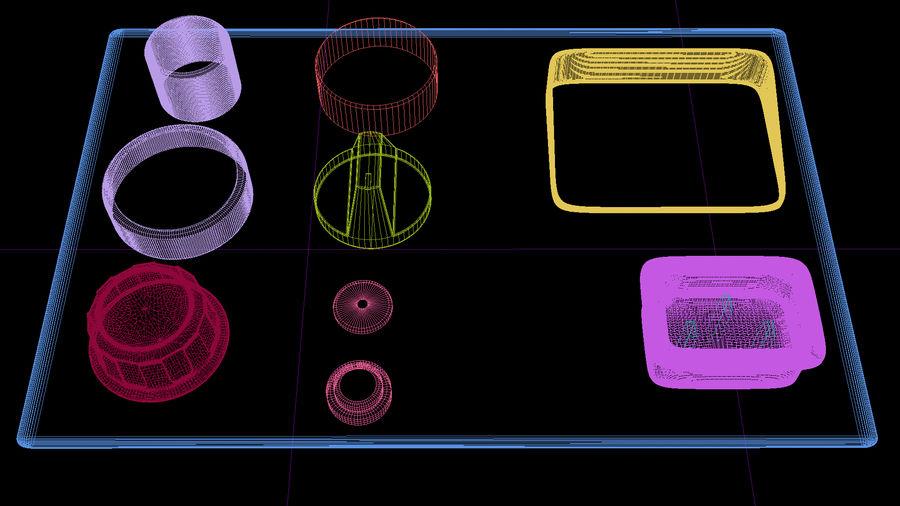 電子機器Kitbashキット01 royalty-free 3d model - Preview no. 5