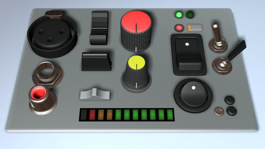 Electronics Kitbash Kit 01 royalty-free 3d model - Preview no. 3