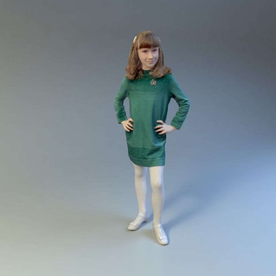 Girl royalty-free 3d model - Preview no. 7
