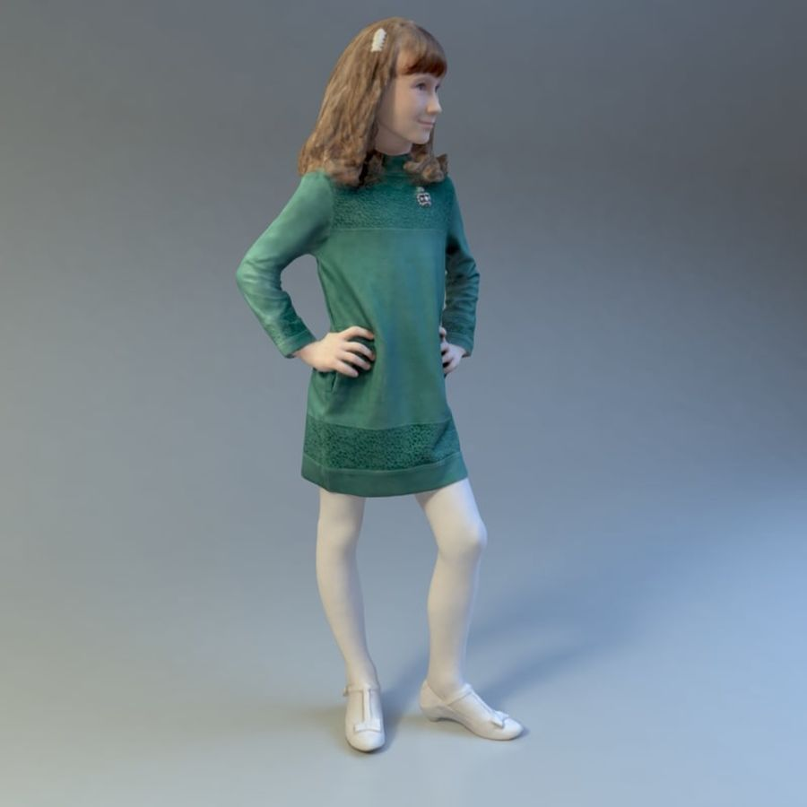 Girl royalty-free 3d model - Preview no. 9