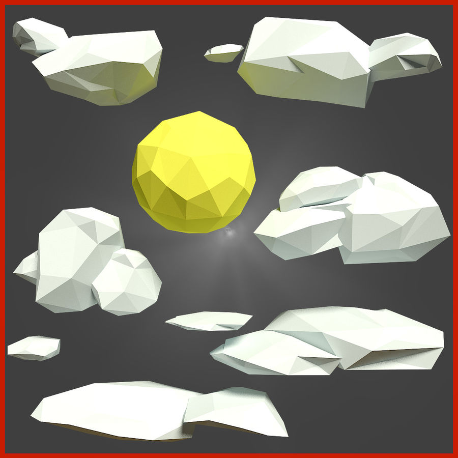 Low-Poly-Waldrucksack royalty-free 3d model - Preview no. 5