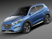 Hyundai Tucson 2016 3d model