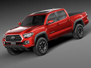 Toyota Tacoma TRD Double Cab 2016 3d model