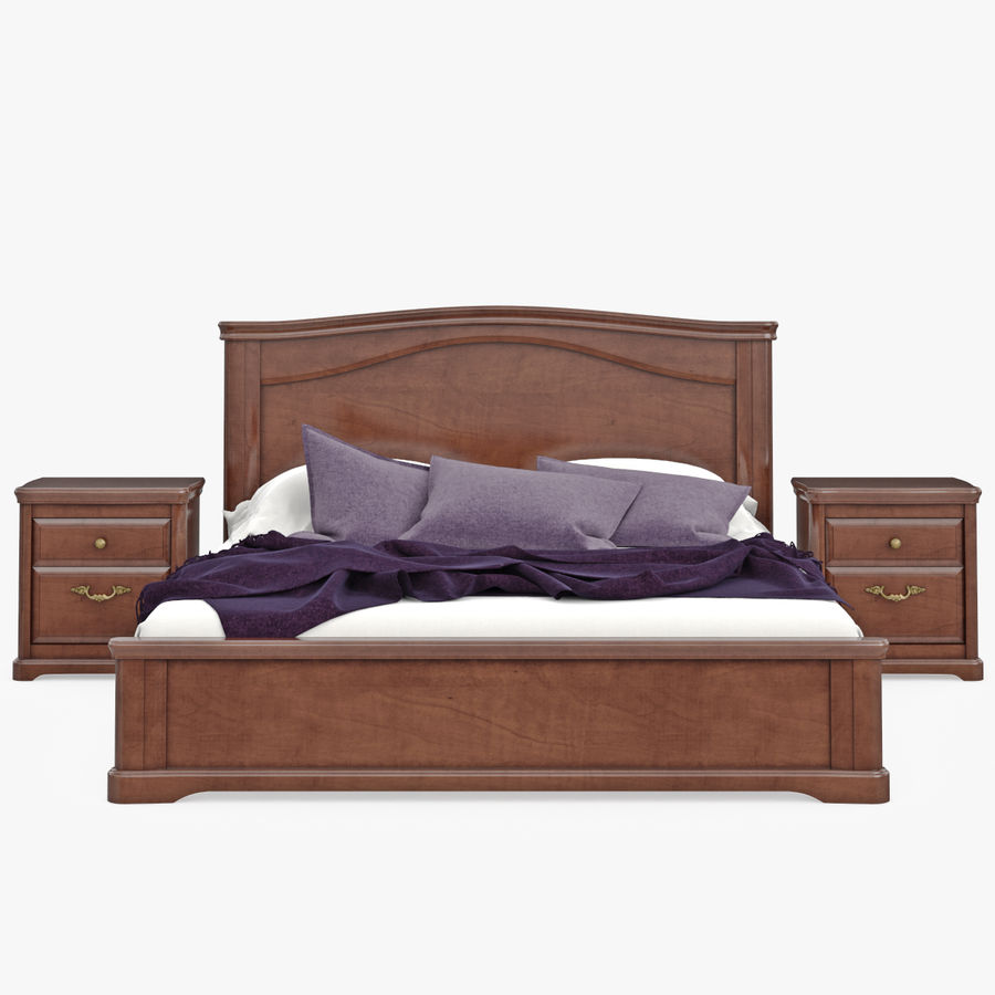 Set Klassische Holzmöbel Für Schlafzimmer Bett Mit ...