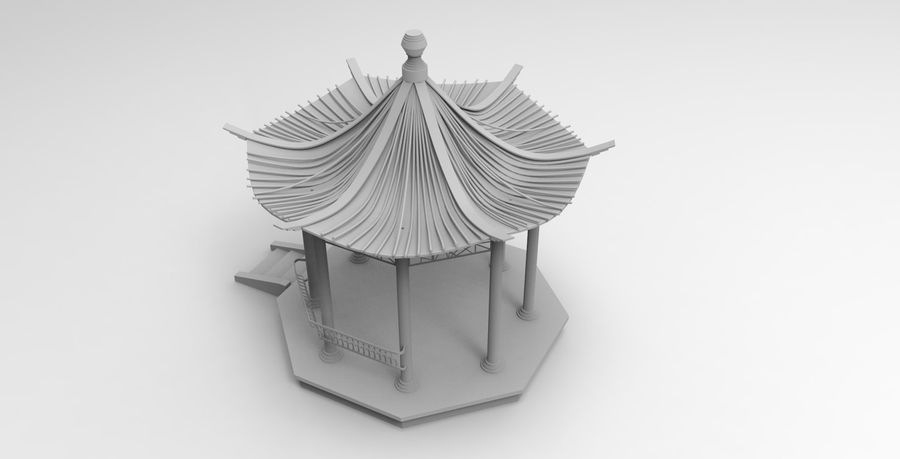 Architecture chinoise royalty-free 3d model - Preview no. 2