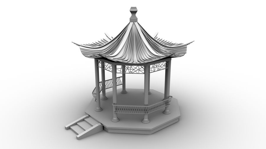 Architecture chinoise royalty-free 3d model - Preview no. 1