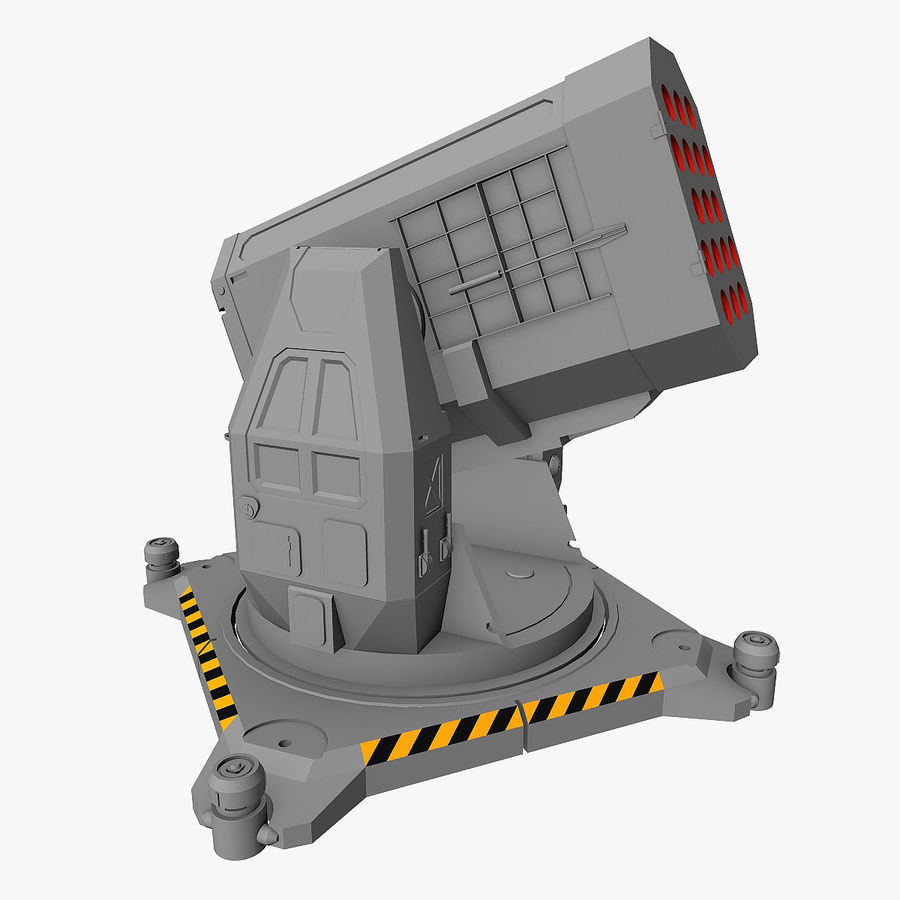 Rocket Launcher royalty-free 3d model - Preview no. 1
