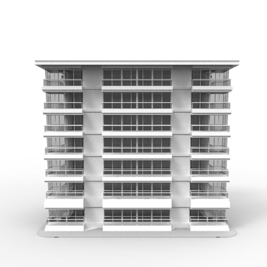 Apartment Building royalty-free 3d model - Preview no. 5