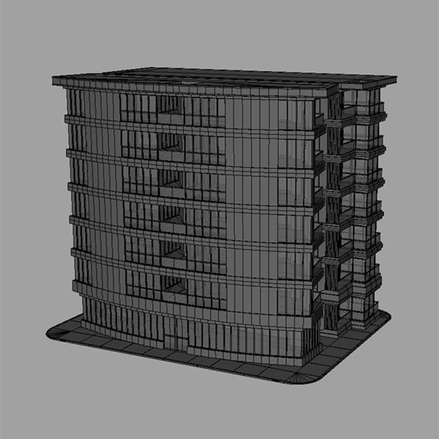 Apartment Building royalty-free 3d model - Preview no. 6