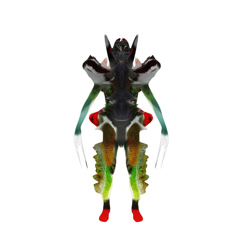 Character Monster royalty-free 3d model - Preview no. 6