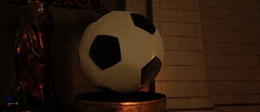 Football royalty-free 3d model - Preview no. 6