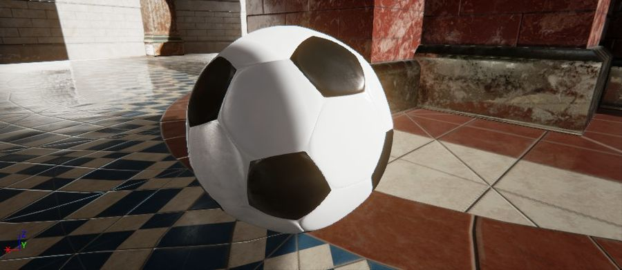 Football royalty-free 3d model - Preview no. 5