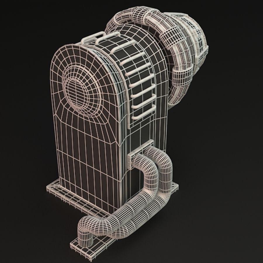 Sci-fi plasma generator royalty-free 3d model - Preview no. 7