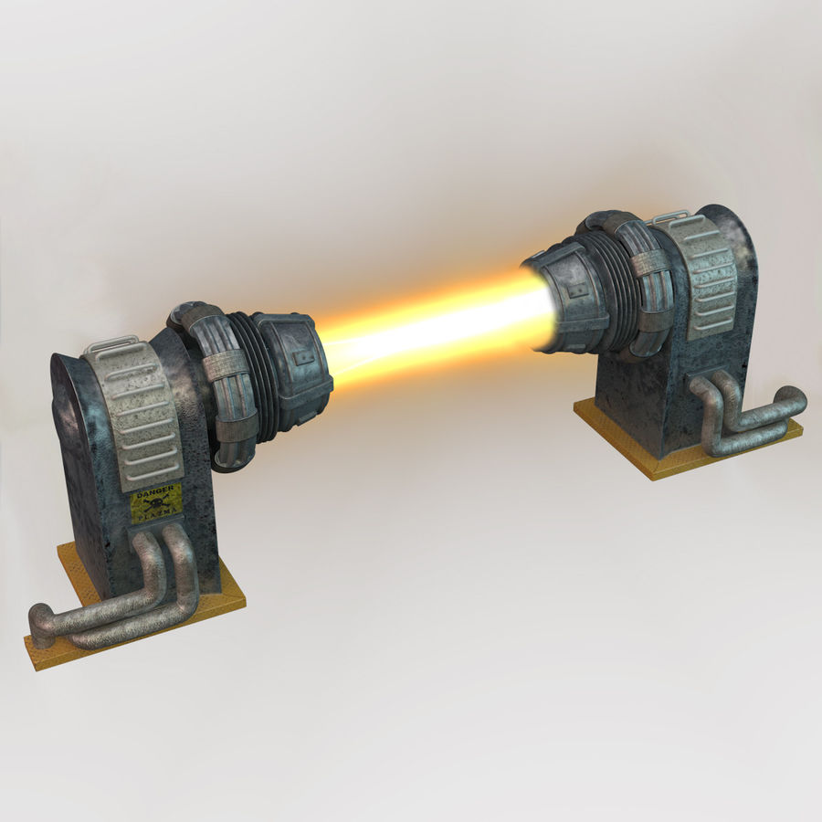 Sci-fi plasma generator royalty-free 3d model - Preview no. 1