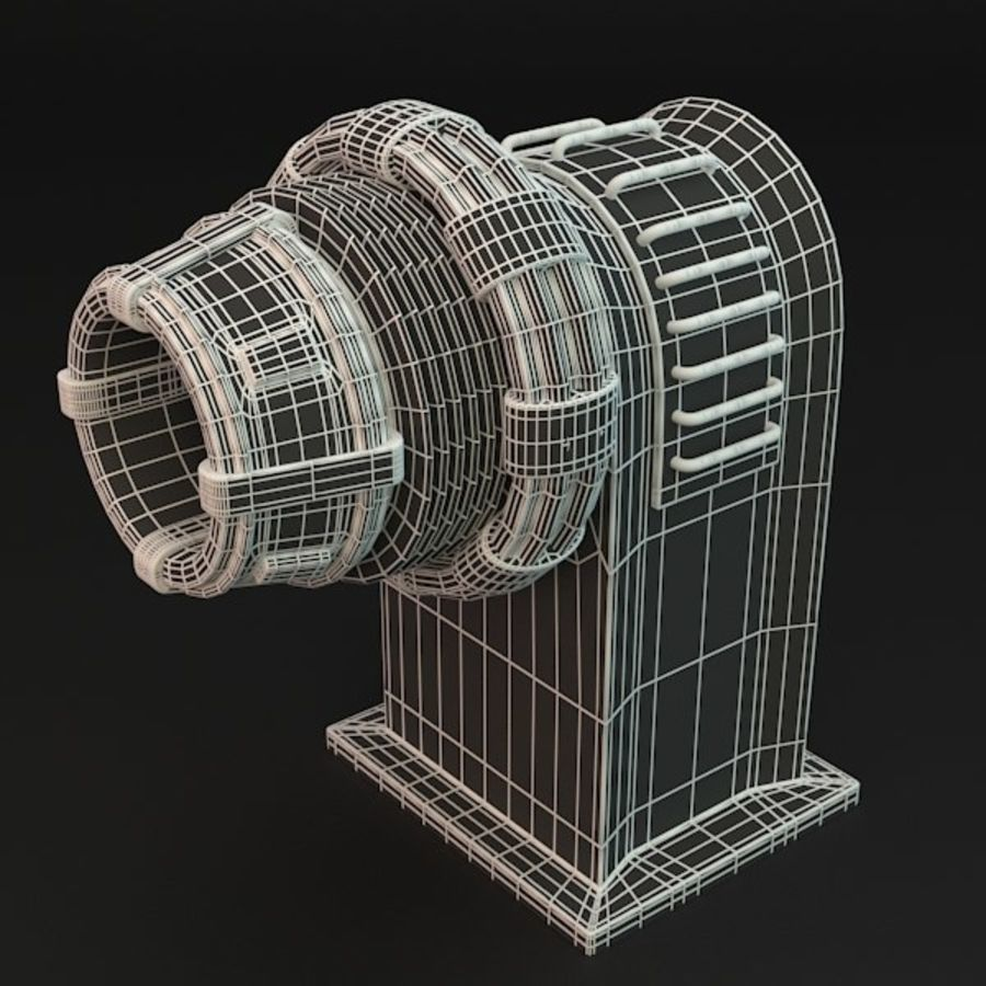 Sci-fi plasma generator royalty-free 3d model - Preview no. 5