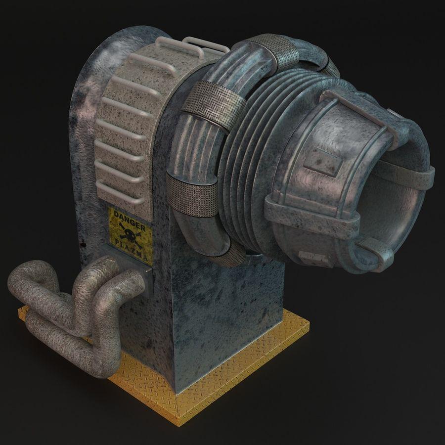 Sci-fi plasma generator royalty-free 3d model - Preview no. 3