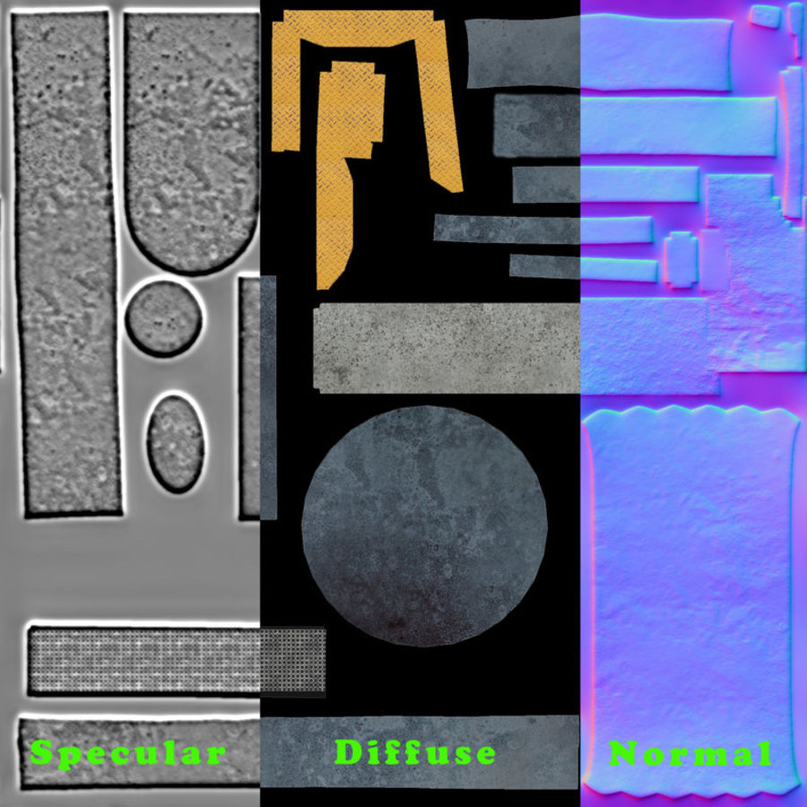 Sci-fi plasma generator royalty-free 3d model - Preview no. 8