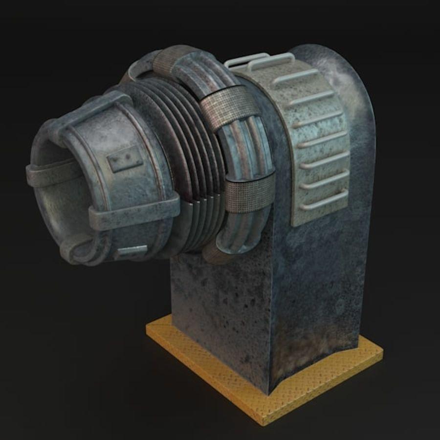 Sci-fi plasma generator royalty-free 3d model - Preview no. 4