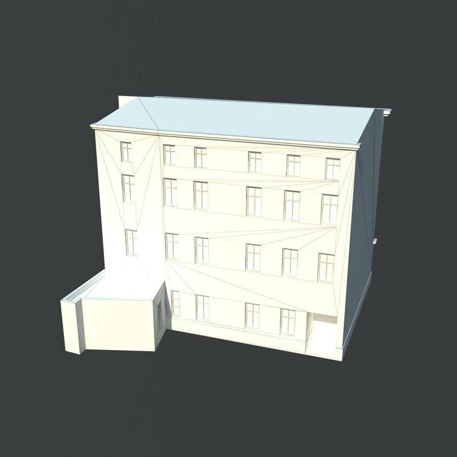 European building royalty-free 3d model - Preview no. 6