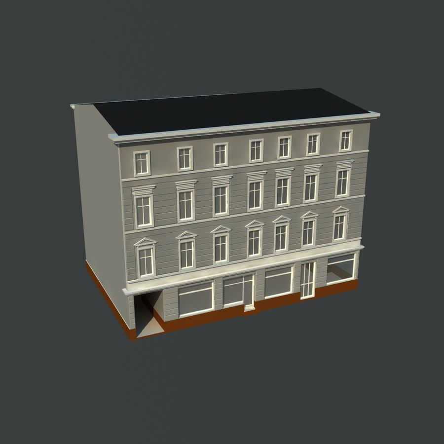 European building royalty-free 3d model - Preview no. 1