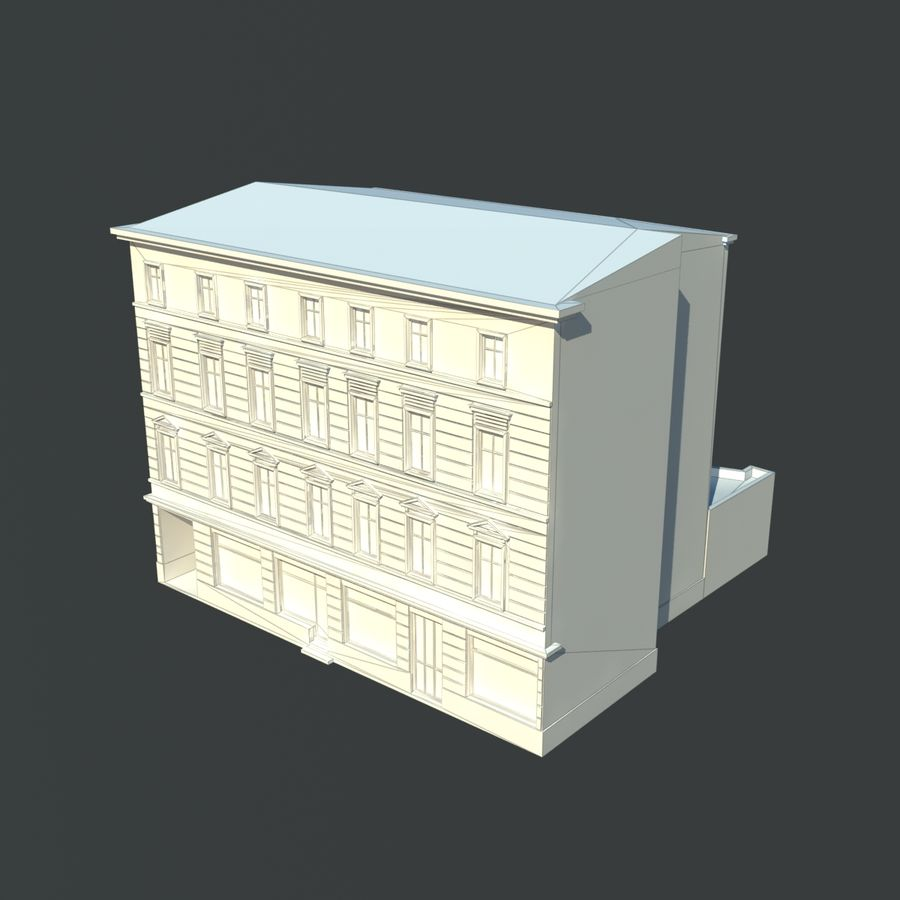 European building royalty-free 3d model - Preview no. 4