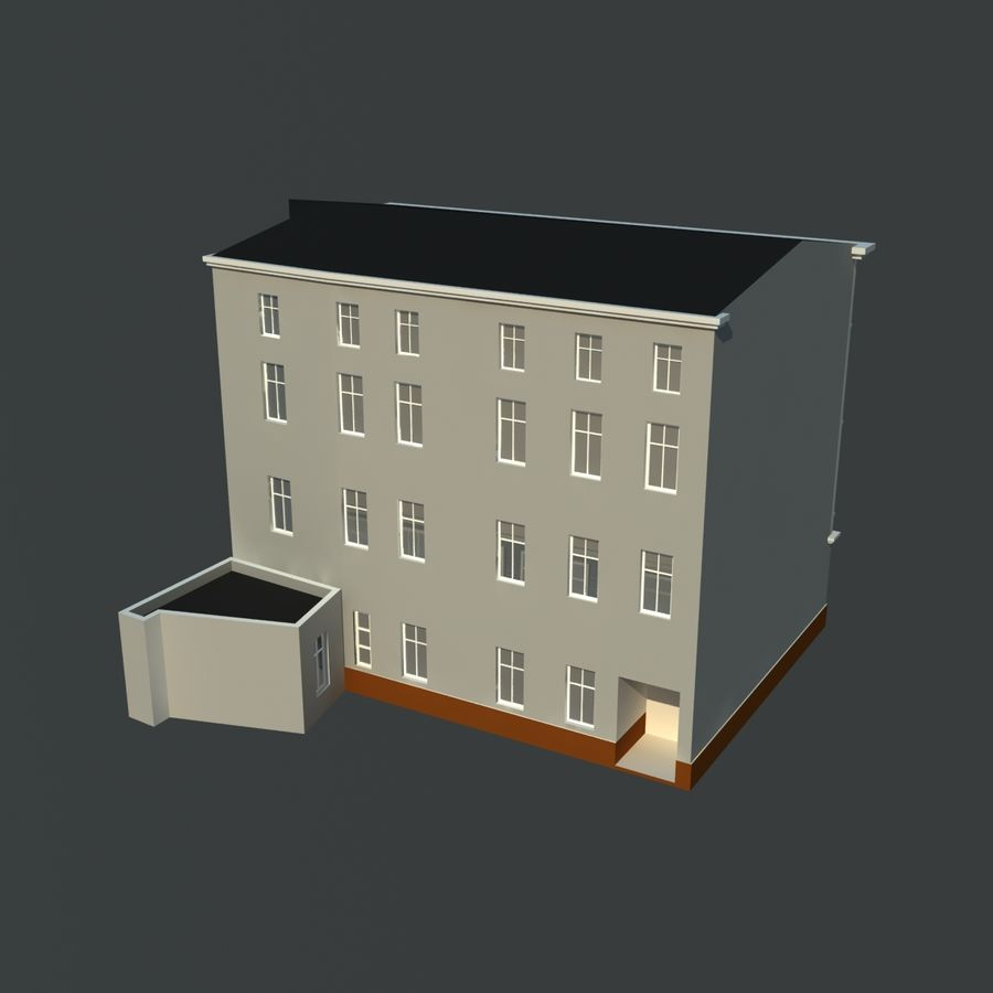 European building royalty-free 3d model - Preview no. 3
