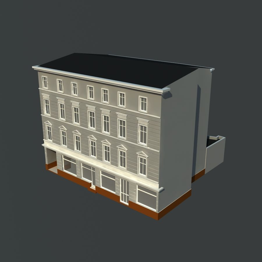 European building royalty-free 3d model - Preview no. 2