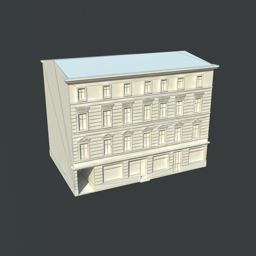 European building royalty-free 3d model - Preview no. 5