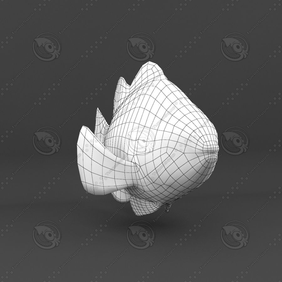 Рыба 3 royalty-free 3d model - Preview no. 21