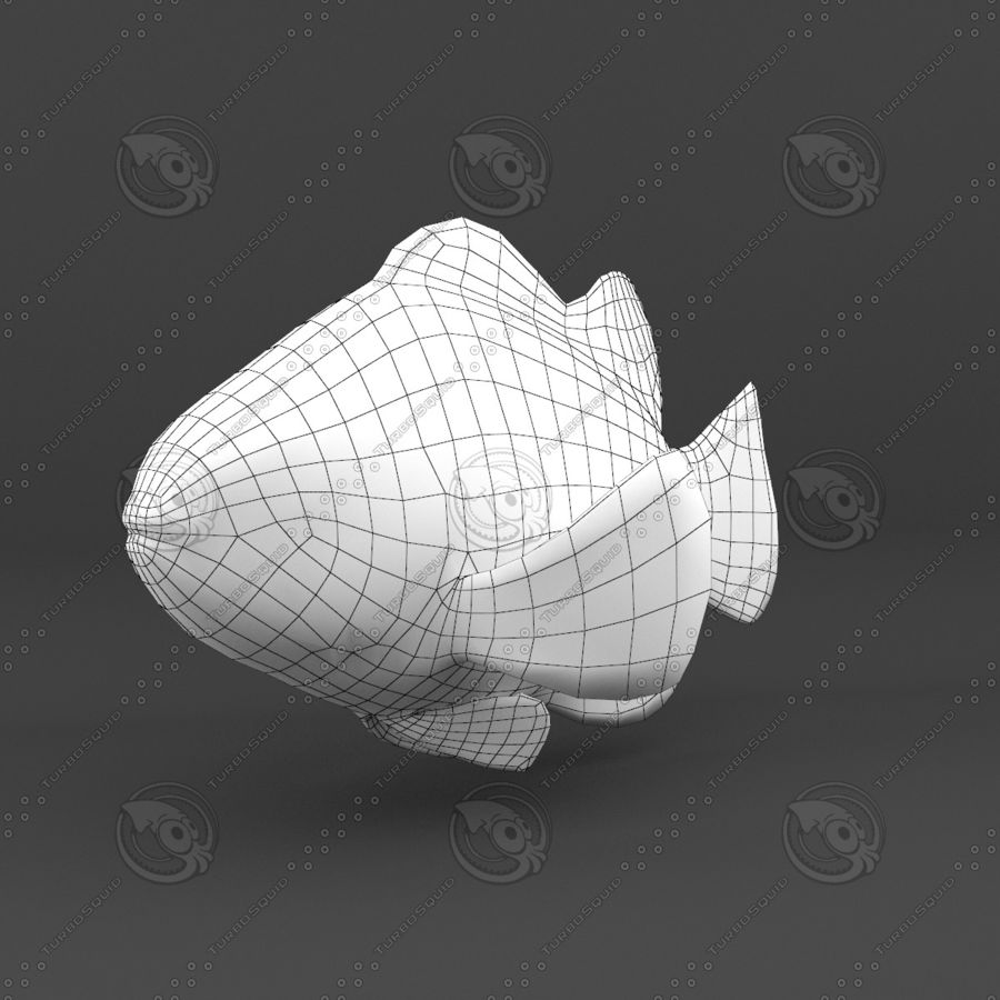 Рыба 3 royalty-free 3d model - Preview no. 19