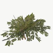 Буш Тип 2 Низкополигональная 3d model
