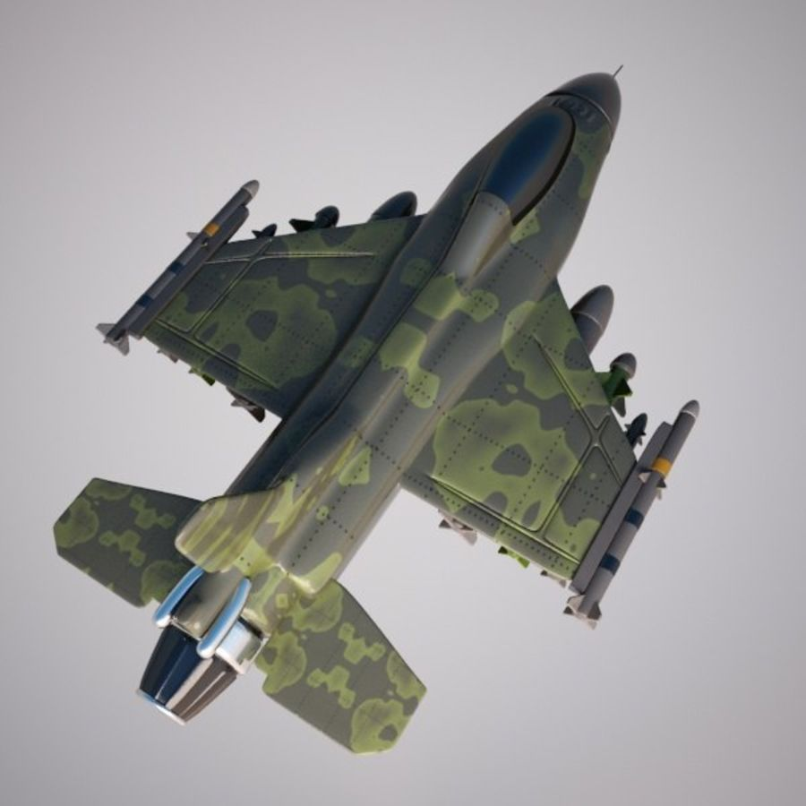 Fighter Aircraft royalty-free 3d model - Preview no. 7