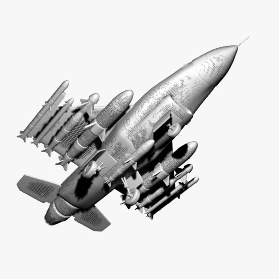 Fighter Aircraft royalty-free 3d model - Preview no. 9