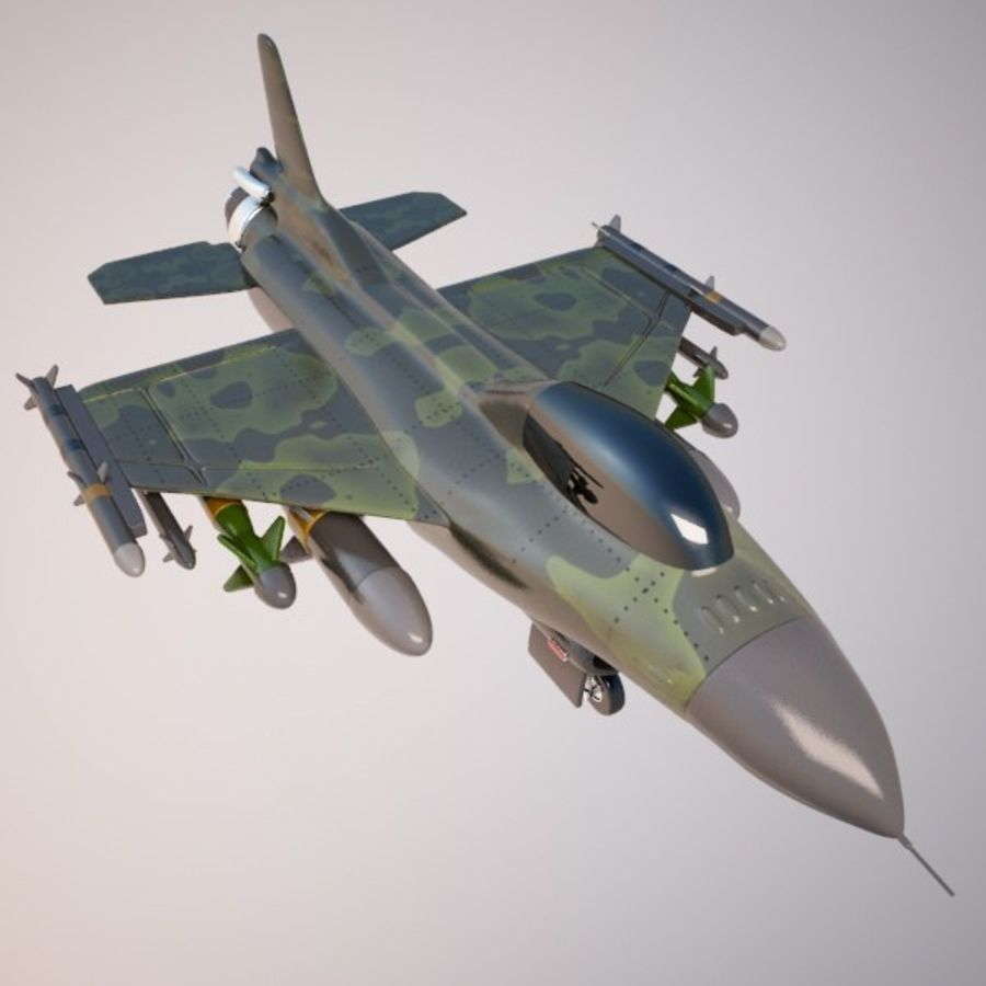 Fighter Aircraft royalty-free 3d model - Preview no. 3