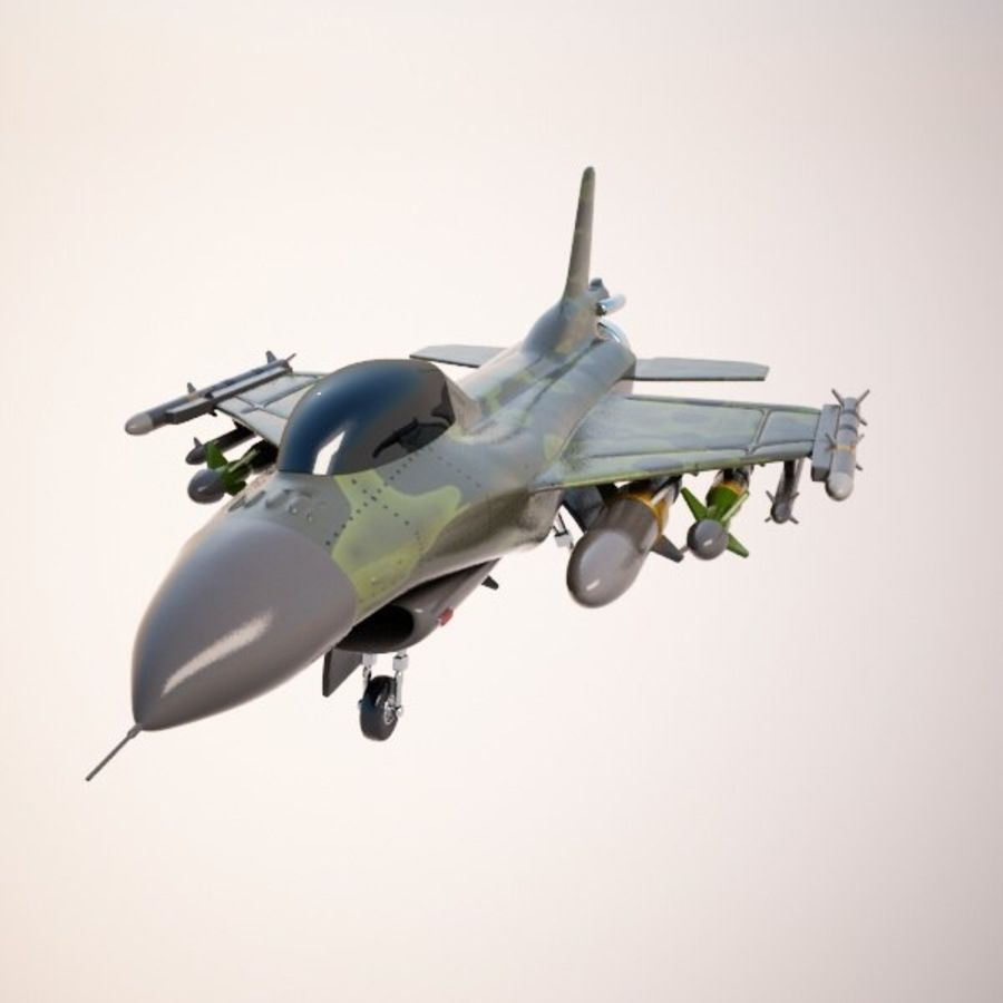 Fighter Aircraft royalty-free 3d model - Preview no. 2
