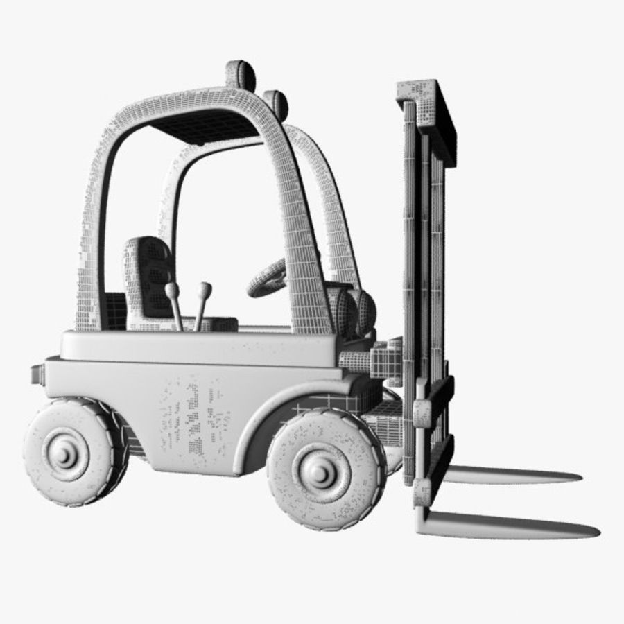 Forklift (vray) 2 royalty-free 3d model - Preview no. 12