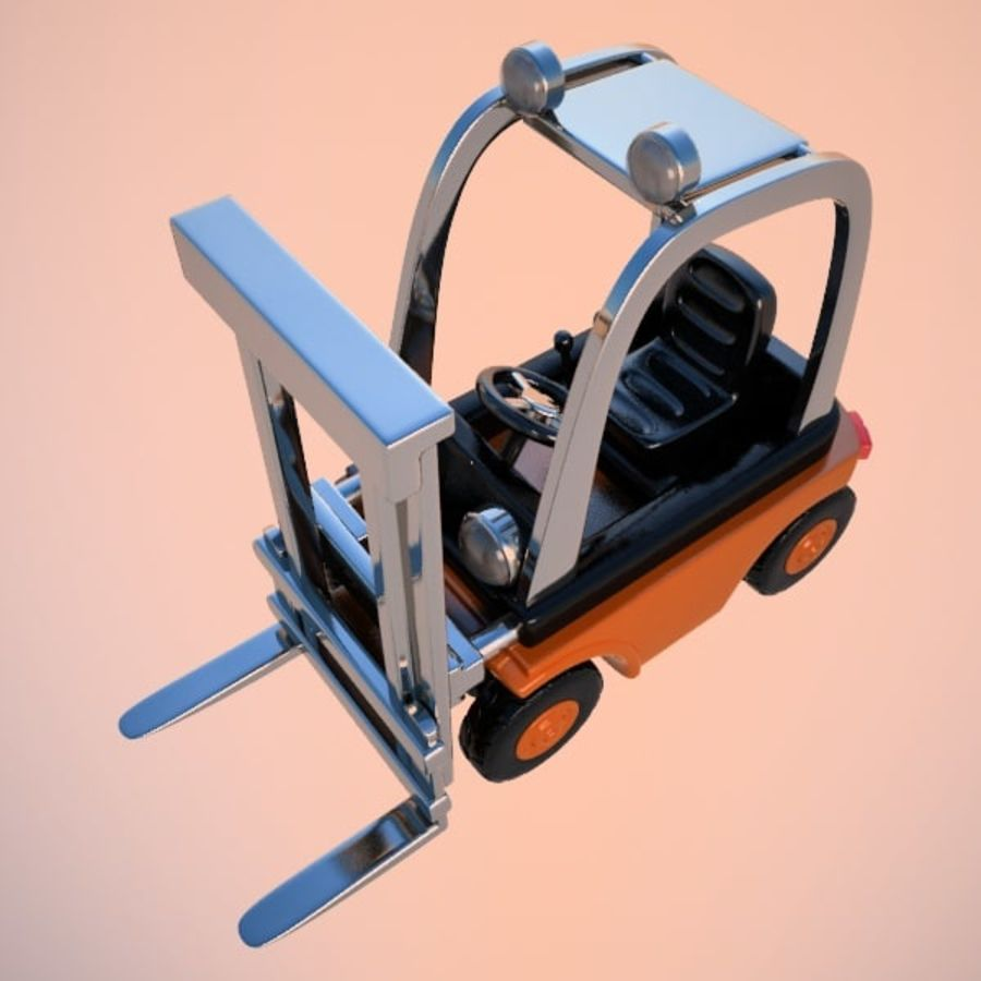 Forklift (vray) 2 royalty-free 3d model - Preview no. 4