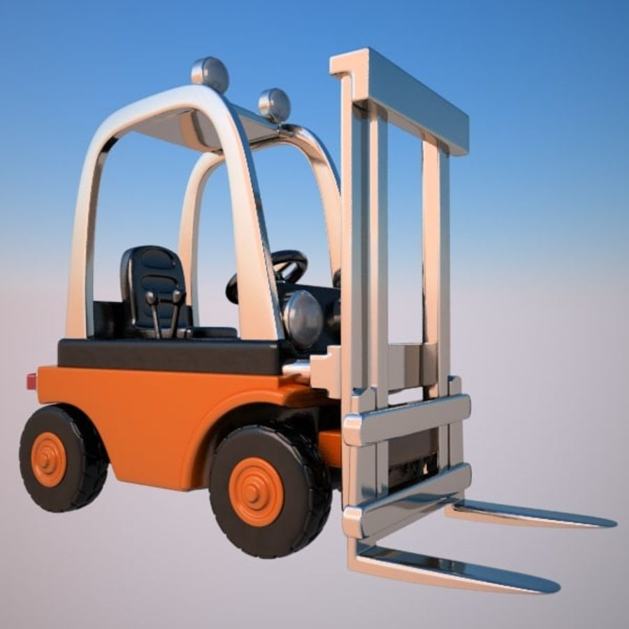 Forklift (vray) 2 royalty-free 3d model - Preview no. 2