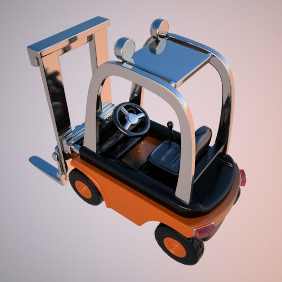 Forklift (vray) 2 royalty-free 3d model - Preview no. 6