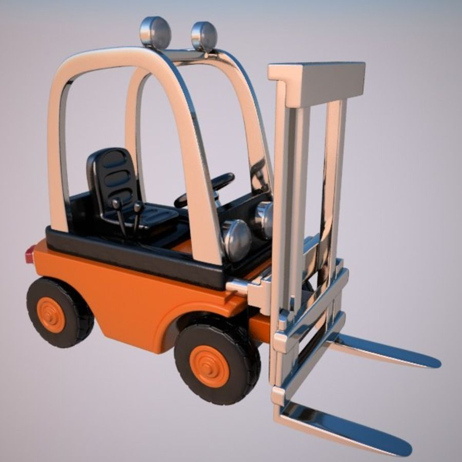 Forklift (vray) 2 royalty-free 3d model - Preview no. 1