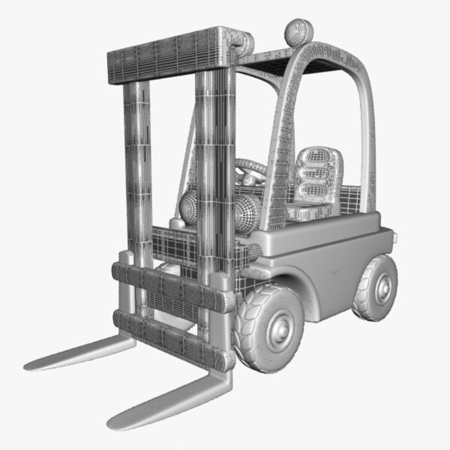 Forklift (vray) 2 royalty-free 3d model - Preview no. 9