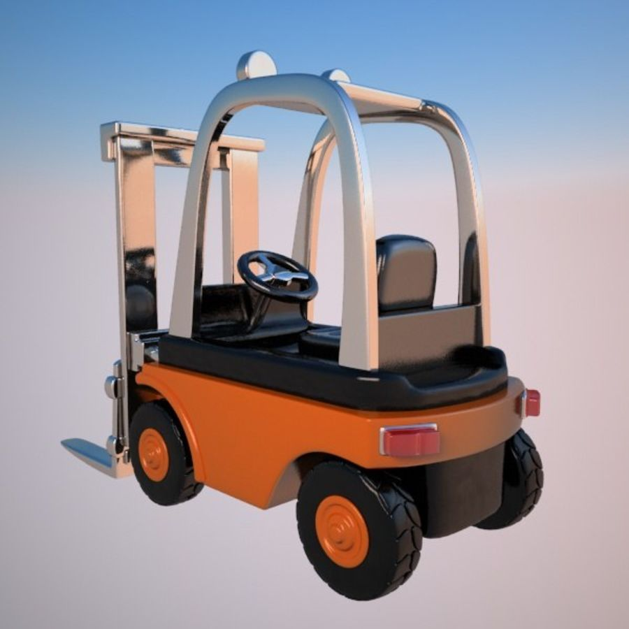 Forklift (vray) 2 royalty-free 3d model - Preview no. 7