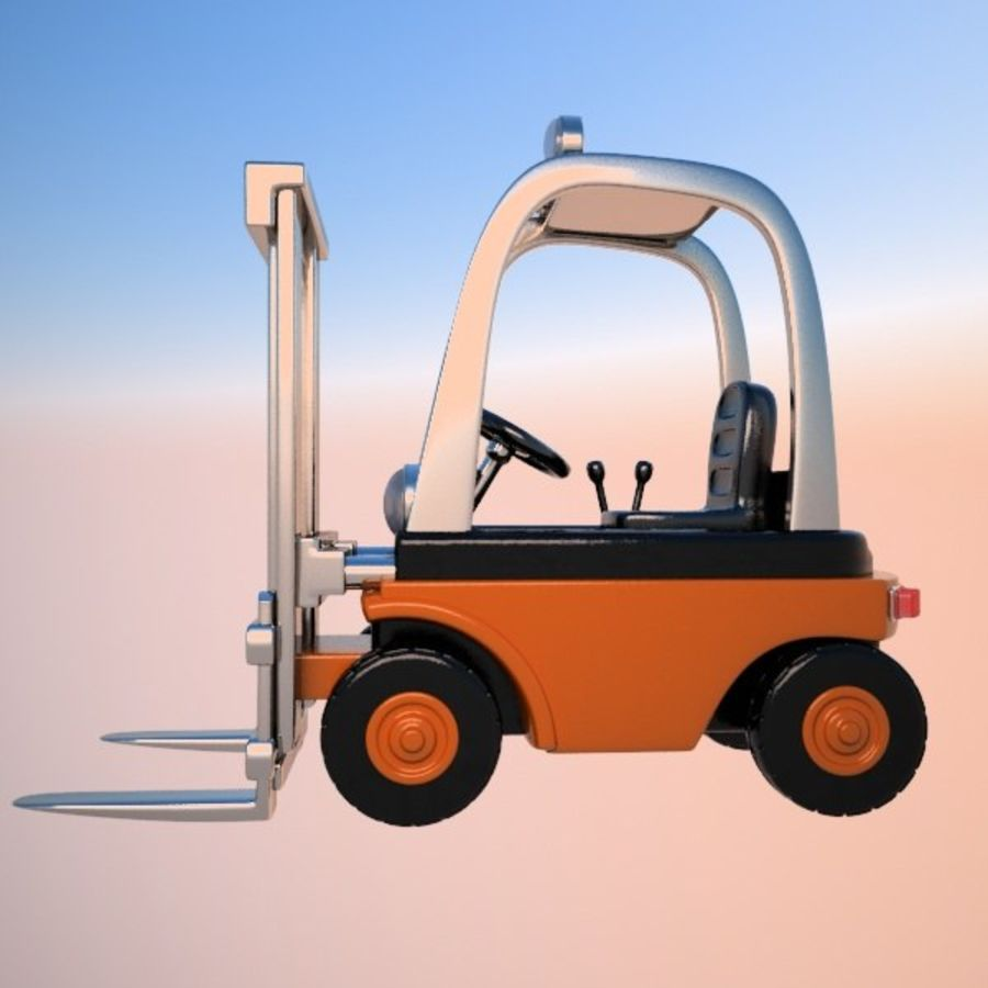 Forklift (vray) 2 royalty-free 3d model - Preview no. 5